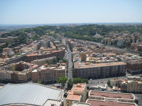 Рим с высоты Храма Сан-Пьетро