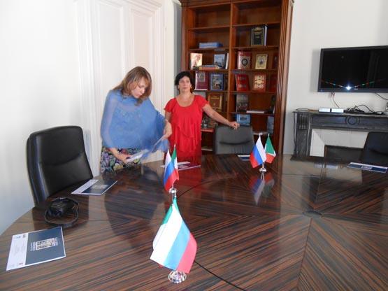 Зал для переговоров с представителя Россотрудничества (Дворец Санта-Кроче)