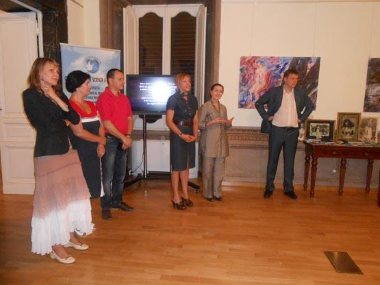 Выставка во Дворце Санта-Кроче, где находится Российский центр науки и культуры